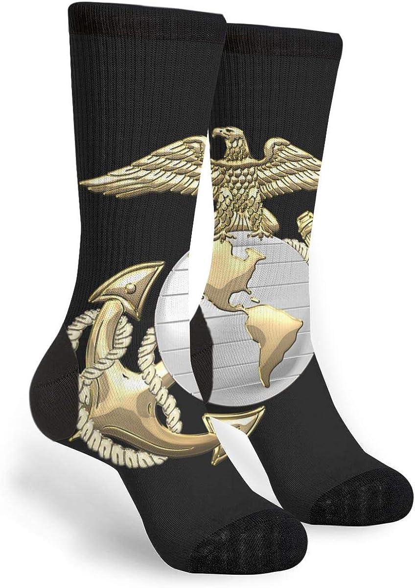 YISHOW Eagle Globe Anchor US Marine Corps Athletic Socks Party Accessory