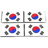 naissant 4枚 セット 韓国 国旗 韓国旗 ワッペン 韓国軍 刺繍 腕章 ワッペン マジックテープ ハングル パッチ サバゲー/バッグ/キャップ などに パッチ