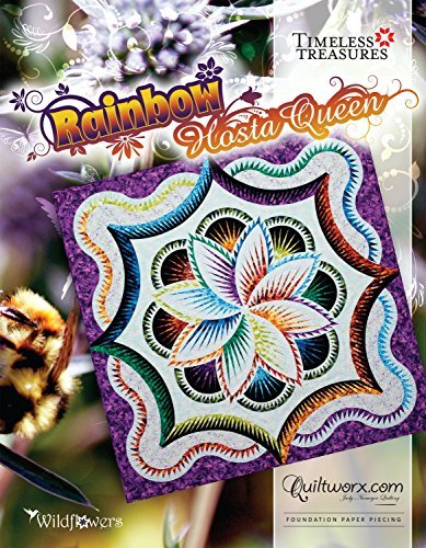 Quiltworx Rainbow Hosta Queen Pattern, by Quiltworx
