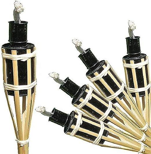 antorchas 16 unidades Antorchas de bambú de bambú antorcha antorcha de jardín fiesta aceite lámpara 42 cm, Iapyx®: Amazon.es: Jardín