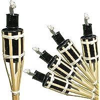 antorchas 16unidades Antorchas de bambú de bambú antorcha antorcha de jardín fiesta aceite lámpara 42cm, Iapyx®