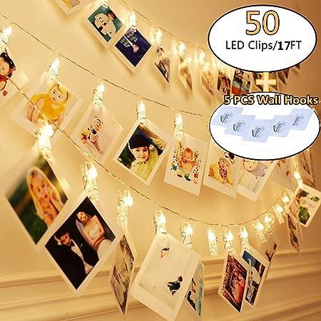 LED Foto Clip Hilo Hadas Luz Boda Fiesta Cumpleaños Adorno de Navidad Bricolaje