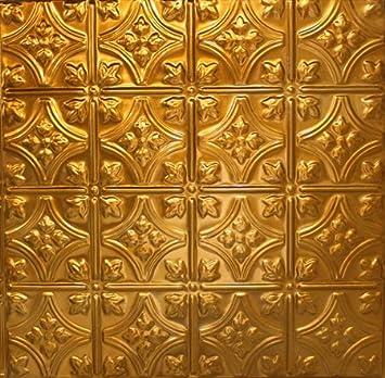 Copper Tin Ceiling Tiles 103, 5 pcs, Copper Coating