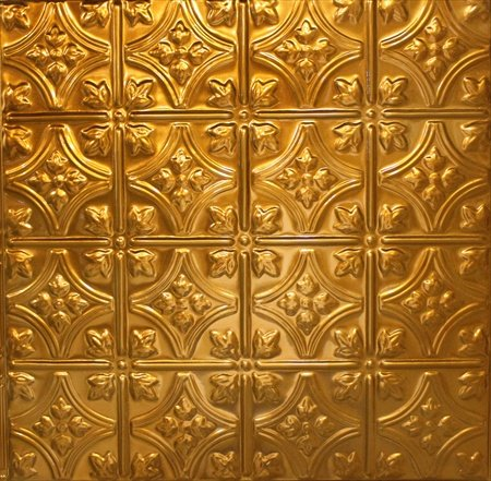 (Copper Tin Ceiling Tiles #103, 5 pcs, Copper Coating)