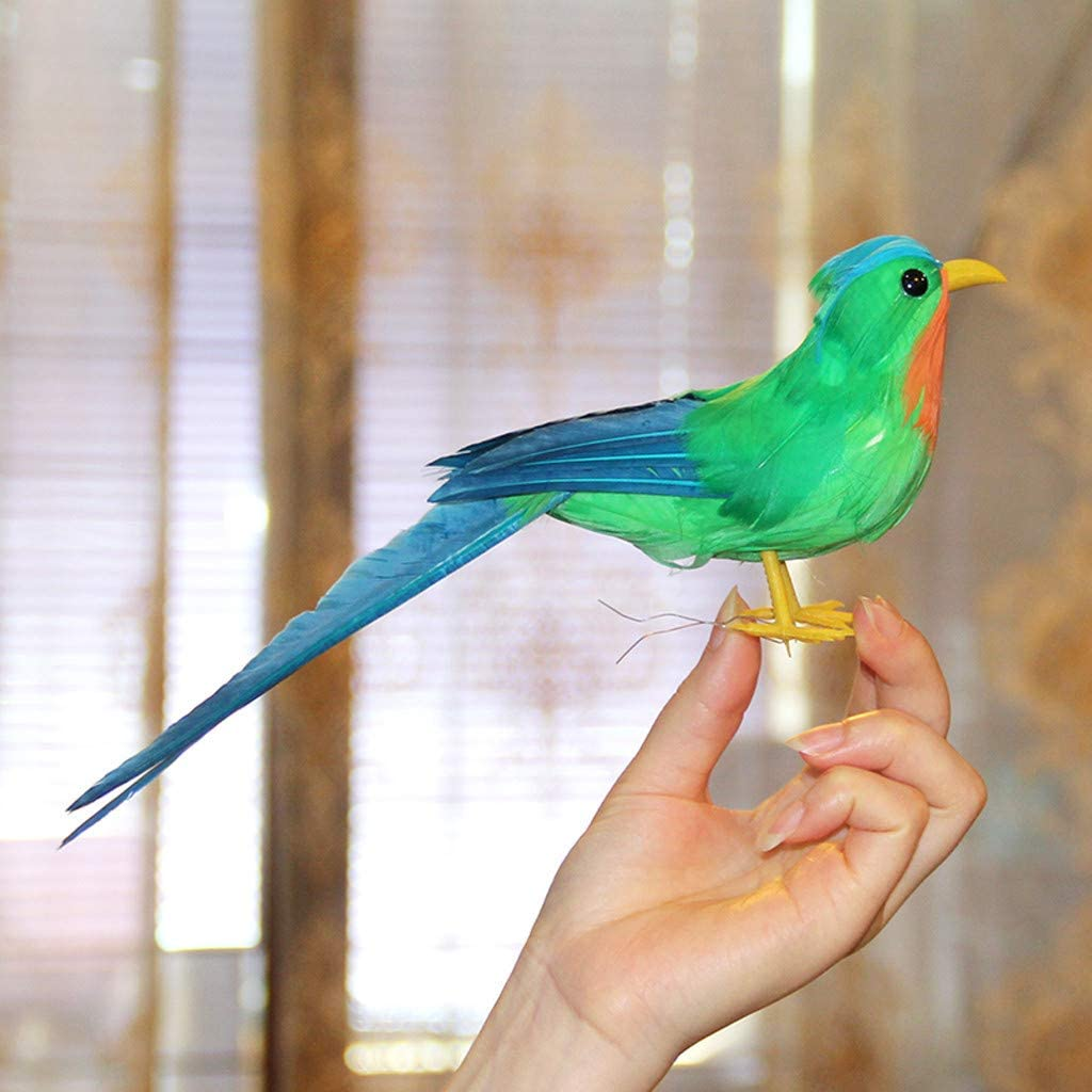 24pcs Mini Foam Artificial Birds Handmade Craft Desk Art Toy Home Office Decor