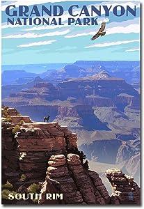 "Grand Canyon National Park, Arizona South Rim Travel Vintage Art Refrigerator Magnet Size 2.5"" x 3.5"""