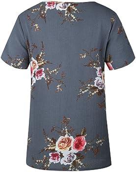 FAMILIZO Camisetas Mujer Manga Corta Camisetas Mujer Tallas Grandes Camisetas Mujer Verano Blusa Mujer Sport Tops Mujer Verano (S, Gris): Amazon.es: Ropa y accesorios
