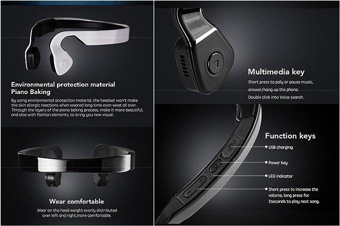 Bluetooth hueso conducción audífonos auriculares inalámbricos ...