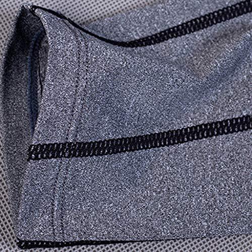 Fitness Pantaloni Per Amlaiworld Lunghi Scuro Elastico Grigio Sport Comodi E Asciutti Uomo Palestra Corsa Aderenti 7SSfw5U