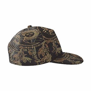 bd17cc4e094d0 InterestPrint Romantic Beautiful Drawing of Dream Catcher Unisex Snapback  Hats