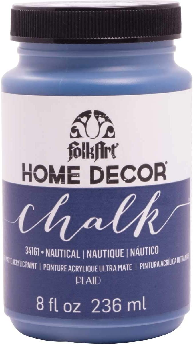 FolkArt 34161 Home Decor Chalk Furniture & Craft Paint in Assorted Colors, 8 ounce, Nautical