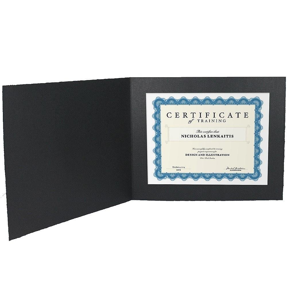 Amazon.com: Black Cardstock Paper Certificate Folder frame w/plain ...