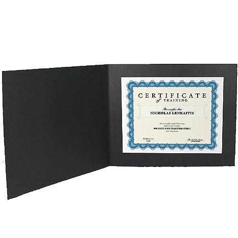 amazon com black cardstock paper certificate folder frame w plain