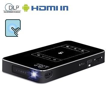 Proyector inalámbrico LED Mini Android Yuancin con entrada HDMI y ...