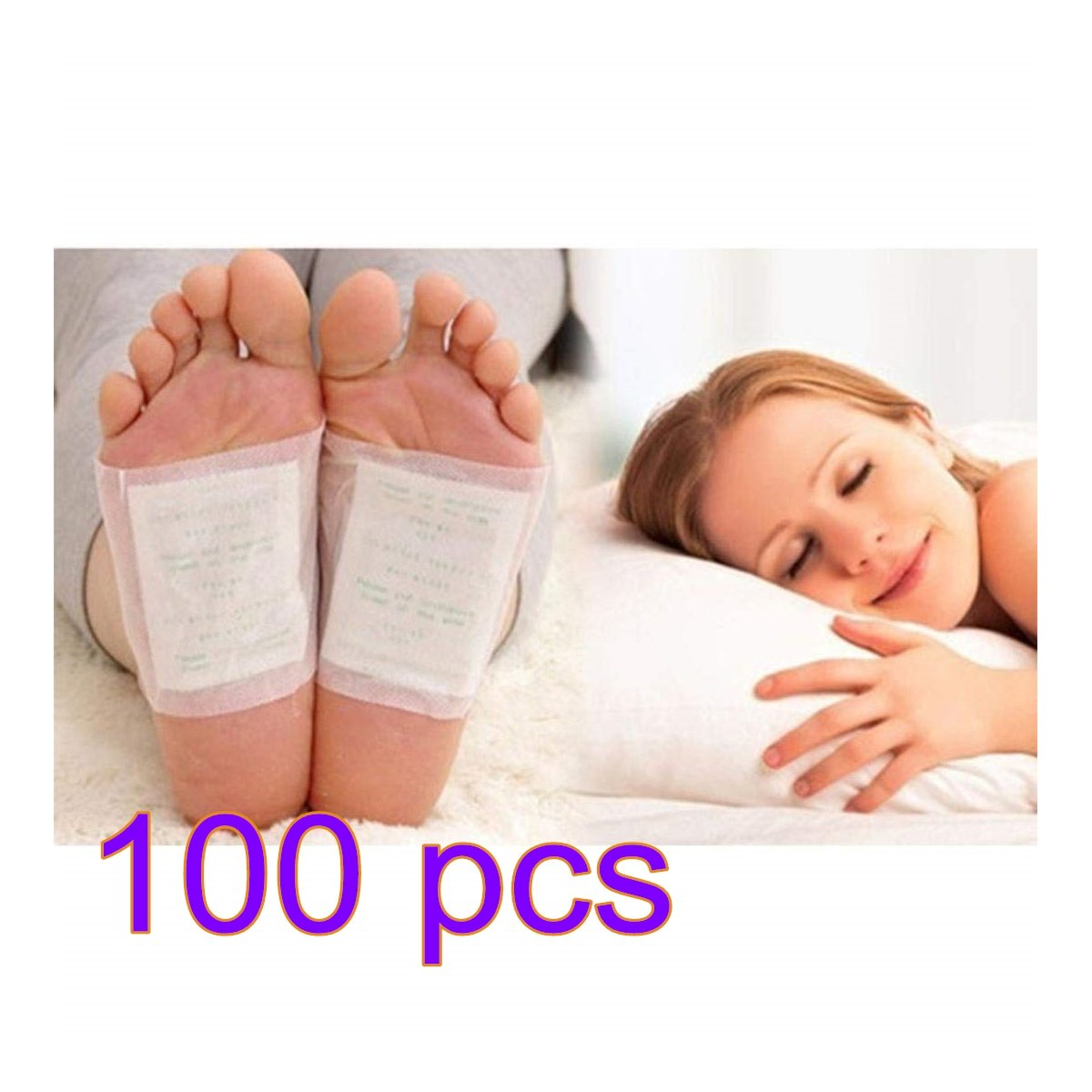 Dasuke 100 Pcs Detox Foot Patches Detox Foot Pads Detoxify Toxins Pain Relief Health Care Patches Cleansing Detox Foot Pads Stress Relief