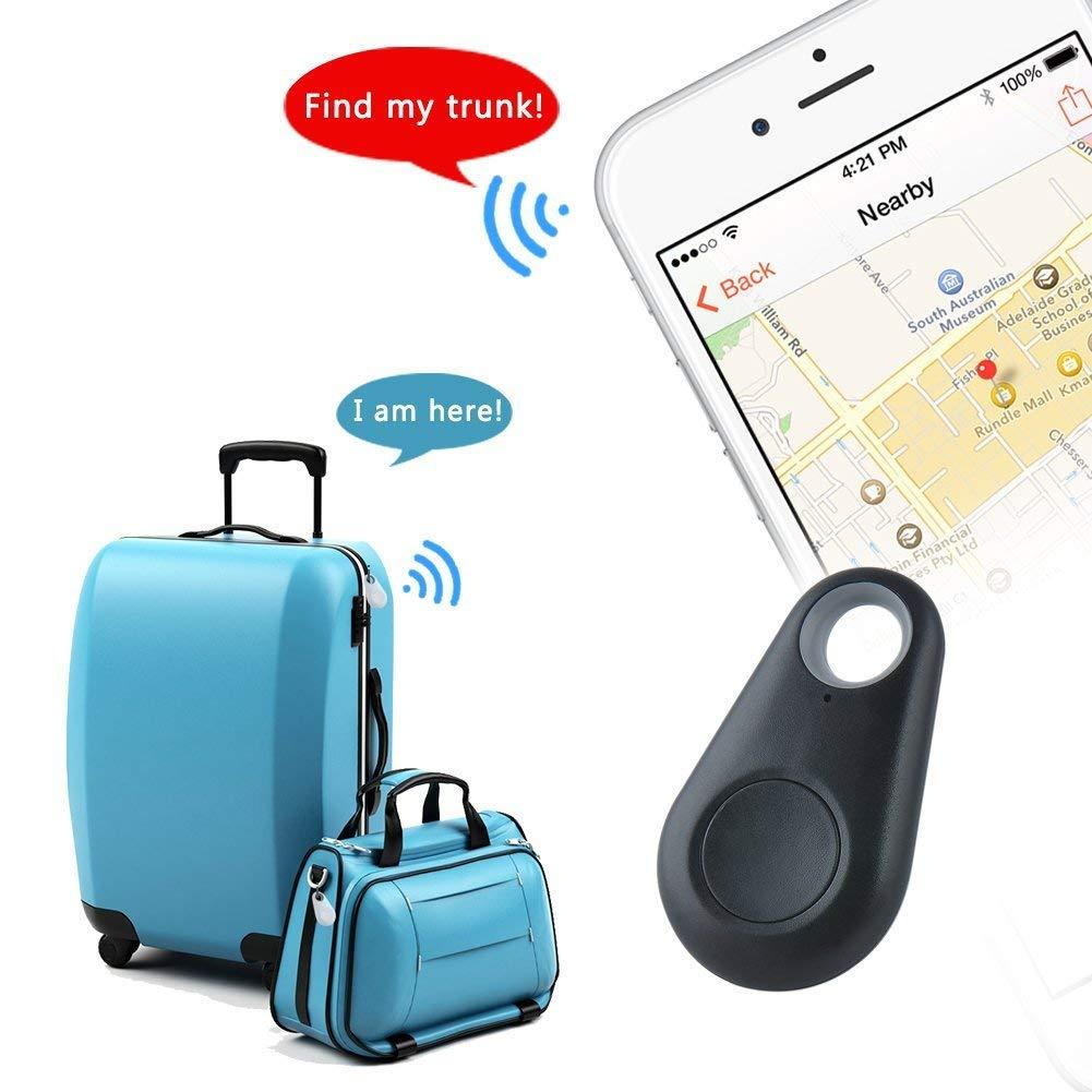 4 Pack Bluetooth Tracker Smart Finder Bluetooth Locator Pet Tracker Alarm GPS Tracker Key Wallet Car Kids Pet Dog Cat Bag Phone Locator Selfies Shutter Wireless Anti Lost Alarm Sensor-Random Color