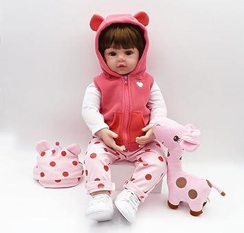 OtadDolls 18inch 45cm Bebe Reborn Cuerpo Entero Silicona niña muñeca Ojos Abiertos Baby Doll Girls magnetismo Juguetes