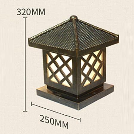 Lighting Resina Clásica Focos Creativos Jardín Exterior Jardín Villa Pasillo Residencial Lámpara Al Aire Libre Poste Luces,A: Amazon.es: Hogar