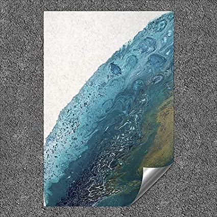 CGSignLab 5-Pack Circle Art GroupRolling Ocean l Outdoor Contour Wall Decor | 18x27