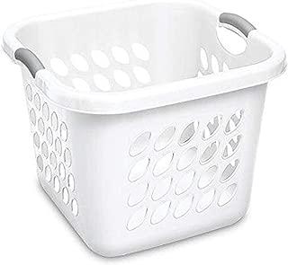 "product image for Sterilite, White 12178006 Laundry Basket, 19"""