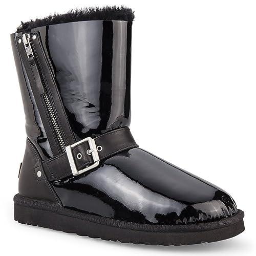 f4d8d803be8 Amazon.com   UGG Australia Women's Blaise Patent Boots, Black, US 11 ...