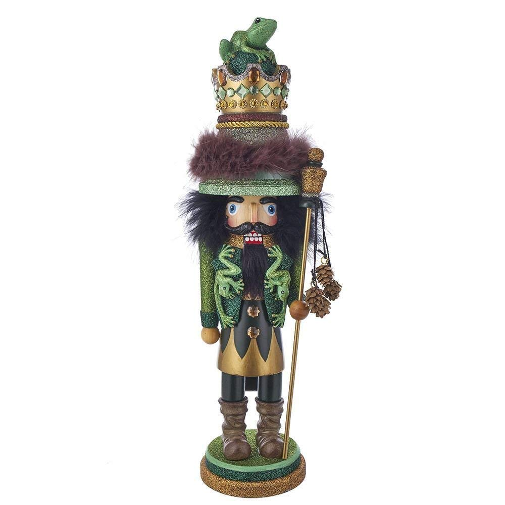 Kurt Adler 18 HOLLYWOOD FROG KING NUTCRACKER
