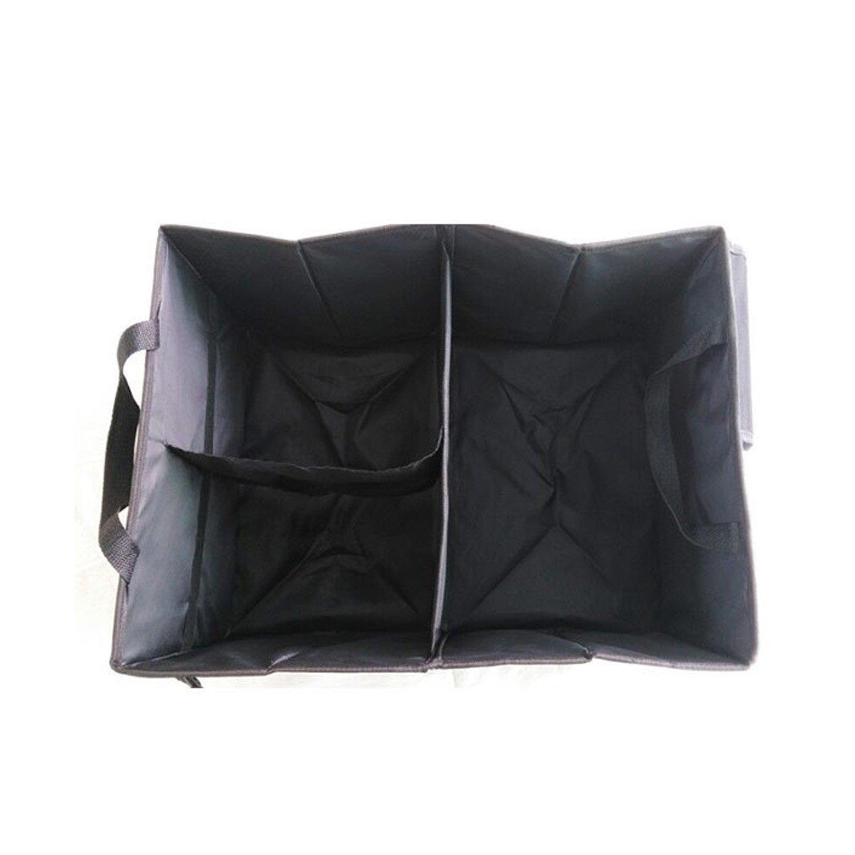 Yayihe YH-STBA-5626 Black ITTA Foldable Cargo Storage Bag Box Case Basket Multipurpose Organizer for Car Trunk Travel Camping Home Toys