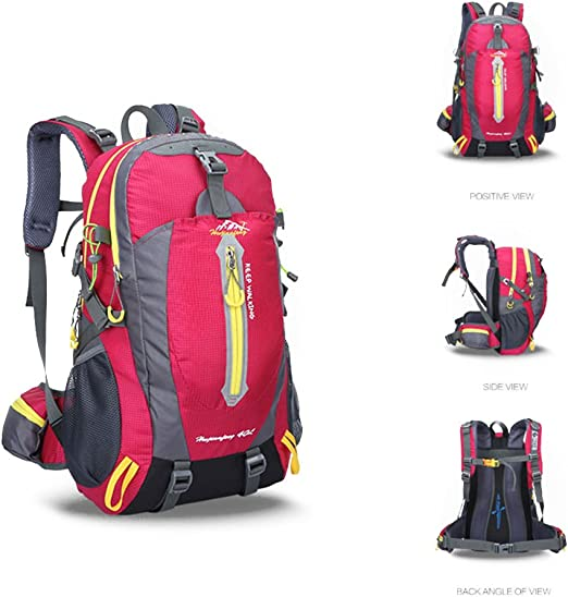 Rose Red Outdoor Lightweight Packable Backpack Travel Hiking Daypack Ultralight Foldable Backpacks for Camping Backpacking Waterproof