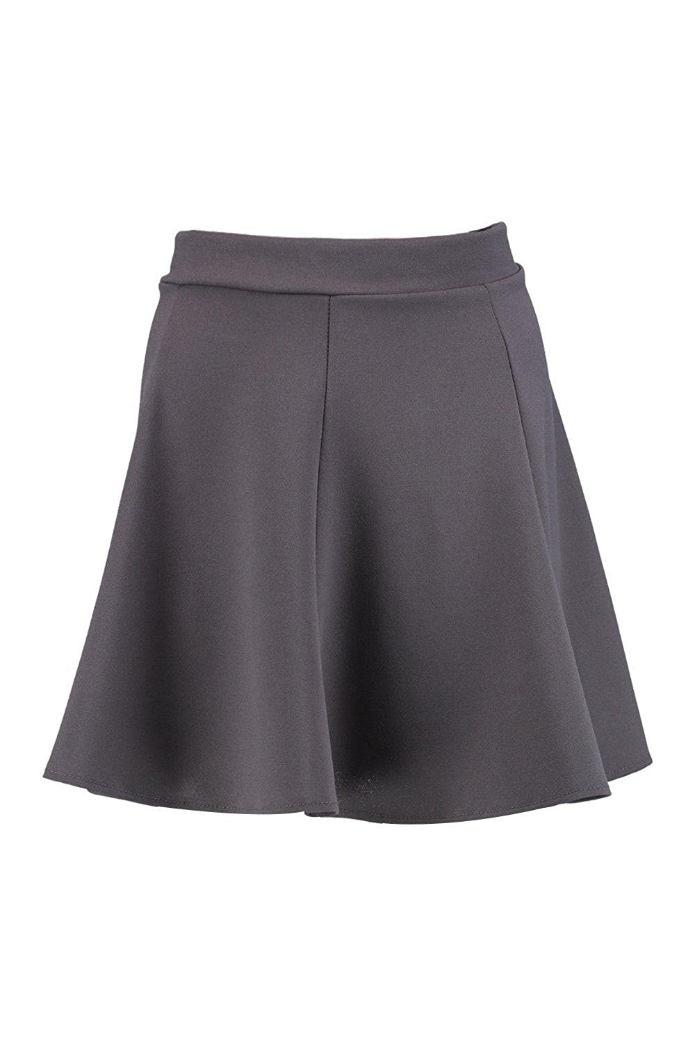 Charcoal Womens Victoria Tailored Skater Skirt