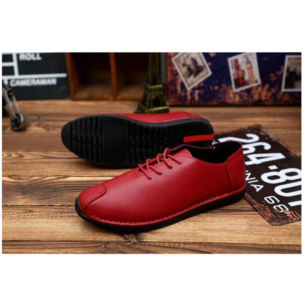 YIWU Männlich Schuhe Freizeit Lederschuhe Jugend Männer Flut Schuhe Schwarz Turnschuhe (Farbe   rot, Größe   EU43 UK9 CN44)