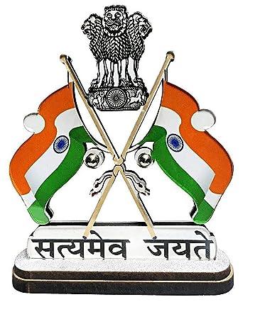 Almoda Creations Wv01rca07915 Satyamev Jayate Indian Cross Flag With