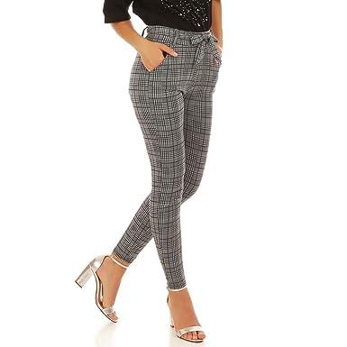 vraie affaire les clients d'abord le moins cher La Modeuse - Pantalon imprimé Pieds de Poule: Amazon.fr ...