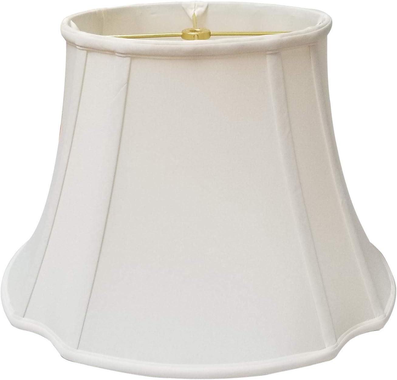 Royal Designs Abat-jour ovale inversé Traditionnelle (7 x 9) x (12.75 x 15) x 10.75 blanc