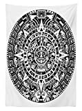 Lunarable Aztec Tablecloth, Mayan Calendar End of