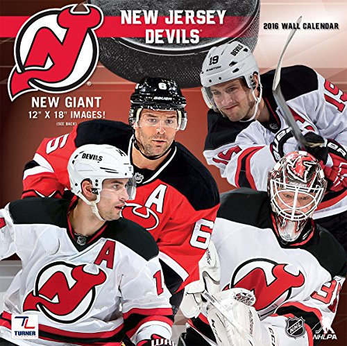 "Turner New Jersey Devils 2016 Team Wall Calendar, September 2015 - December 2016, 12 x 12"" (8011947)"