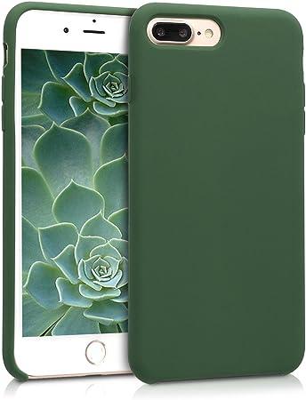 kwmobile Cover per Apple iPhone 7 Plus / 8 Plus - Cover Custodia in Silicone TPU - Back Case Protezione Cellulare Verde Scuro
