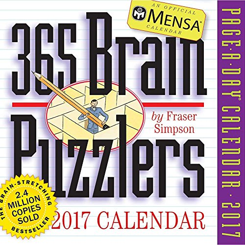 Mensa Brain Puzzlers 2017 Page-A-Day Calendar