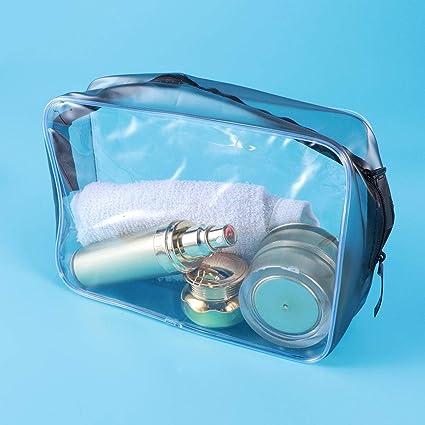 Lurrose 4 Bolsas de cosméticos Transparentes para Mujer con ...