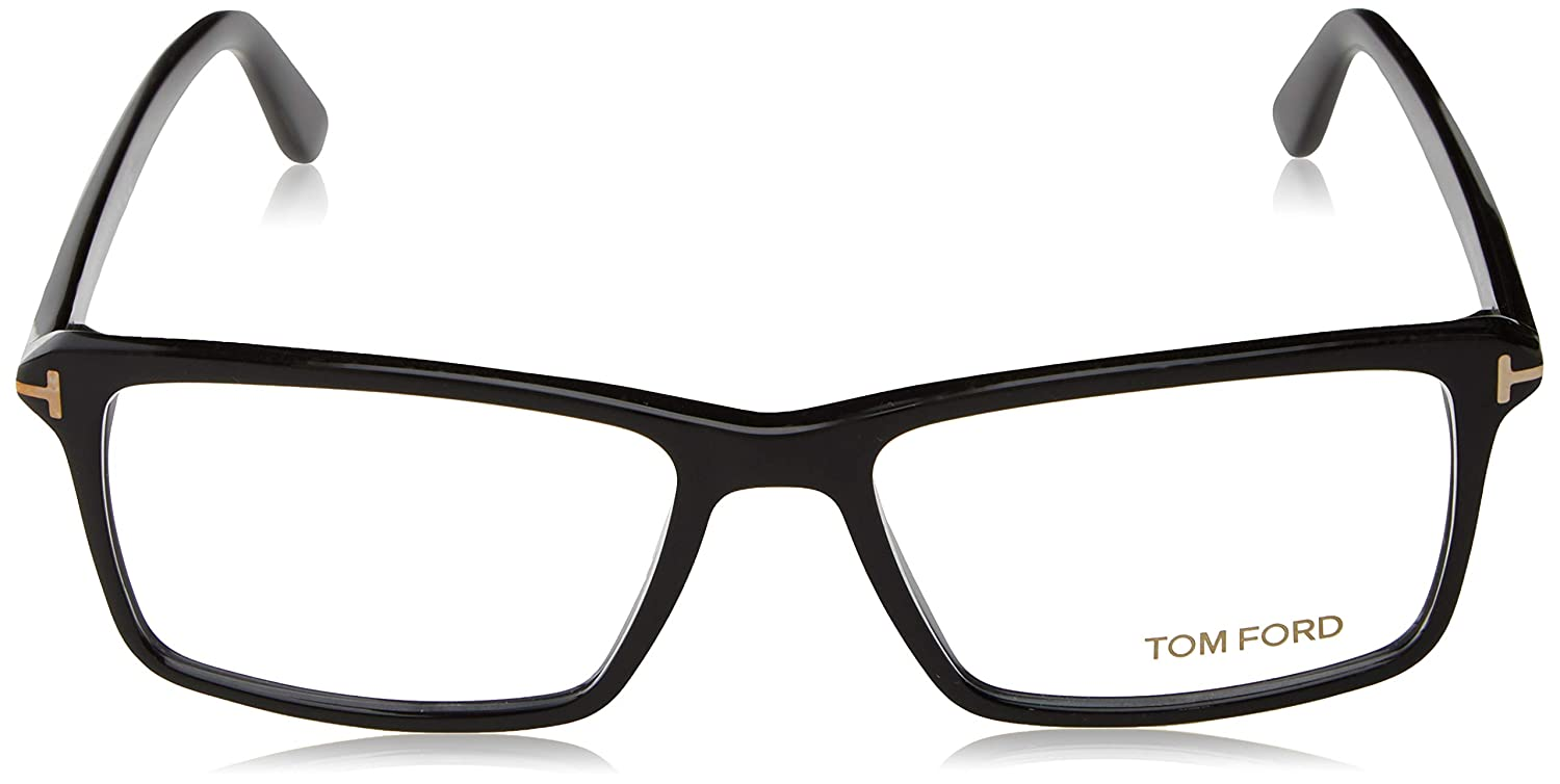ab8a0a1e645 TOM FORD Men s TF 5408 001 Black Clear Rectangular Eyeglasses 56mm ...