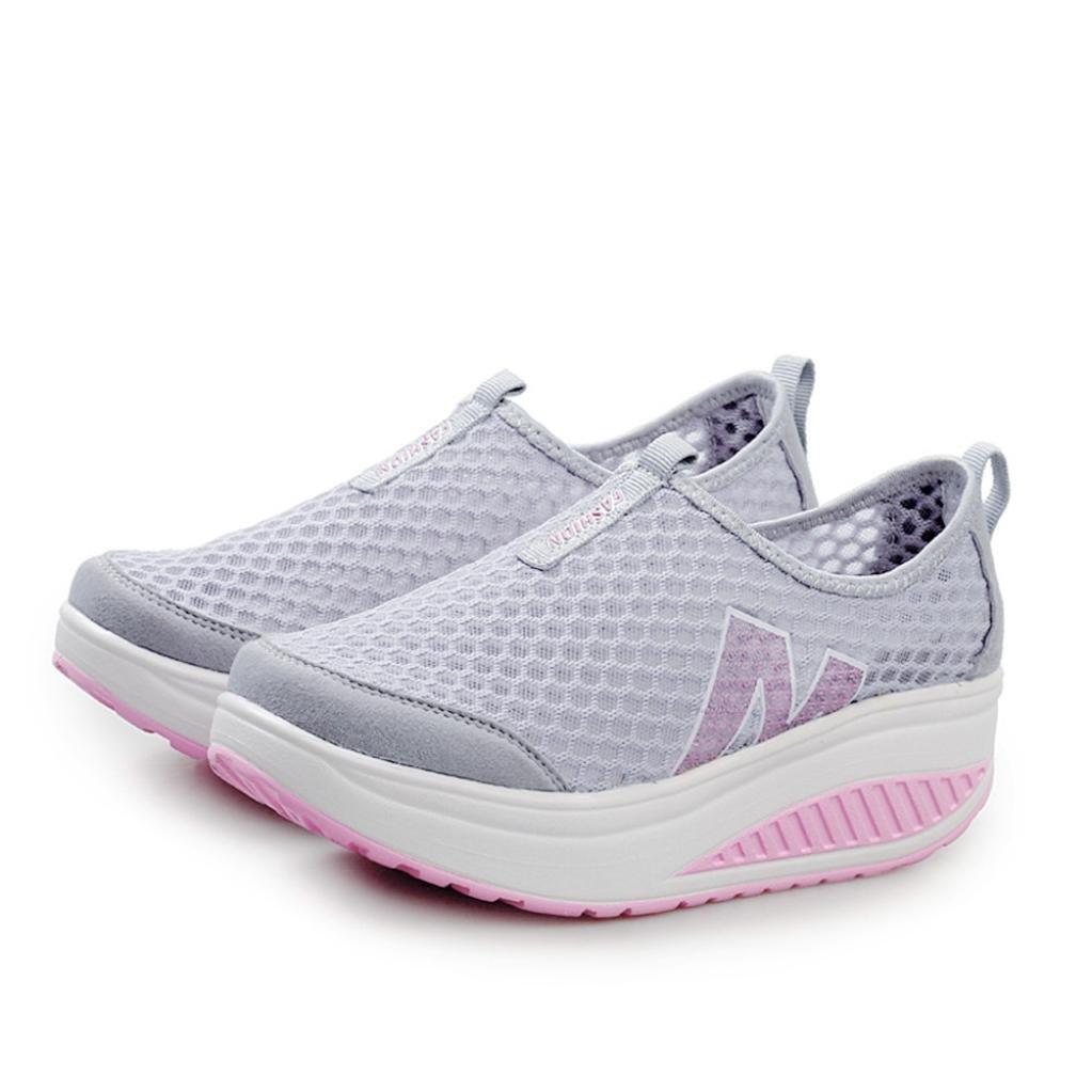 Zapatos De Mujer,ZARLLE Mujer Adelgazar Zapatos Sneakers para Caminar Zapatillas Aptitud CuñA Plataforma Zapatilla De Deporte Running Zapatillas Sacudir ...