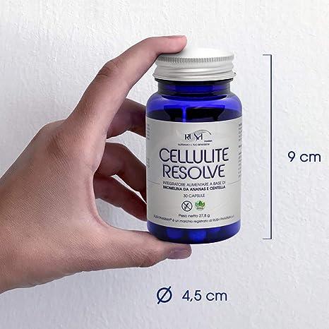 Potente Anticelulitico Reductor Pastillas para Celulitis y Adelgazar (1 mes de tratamiento) Suplemento Eficaz con Bromelina Centella Enzimas ...