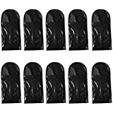 Wig Storage Bag Holder Case, Wigs Pouch Dust-Proof Organizer Protect for Professional Hair Extensions (Black)