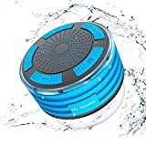 Gracety Ultra Portable Wireless Bluetooth Speakers V4.0 with Waterproof IP67. HD Sound and Bass for iPhone iPod iPad Phones - Blue