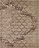 Modern Contemporary Abstract Area Rugs Dark Beige 8′ x 10′ Trellis Rug For Sale