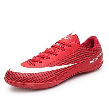 Asvert Zapatillas Fútbol Profesionales Hombre Botas de Rugby Adulto Zapatos de Fútbol Transpirable y Ligero Marca: Amazon.es: Deportes y aire libre