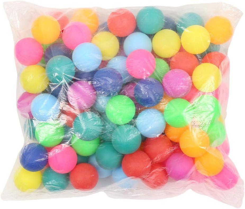 150 pelotas de tenis de mesa, pelotas de ping pong, 40 mm, ideal para juegos de adultos y niños, Multicolor