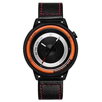 Amazon.com: BREAK Men Women Leather Strap Wristwatch Creative Photographer Sport Fashion Quartz Watches: Watches
