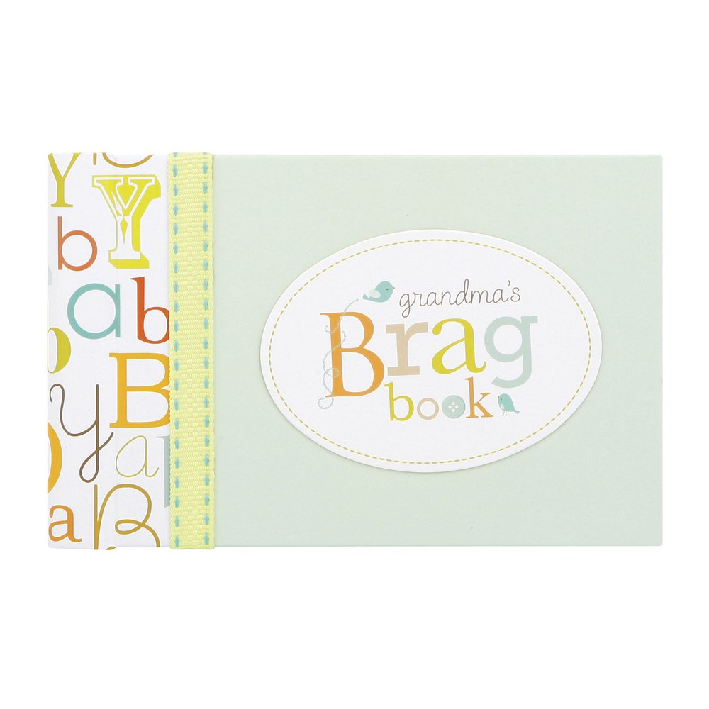 C.R. Gibson Grandma's Brag Book, 10 Sheets/20 Pages, Measures 4.5'' x 7'' - Baby Love