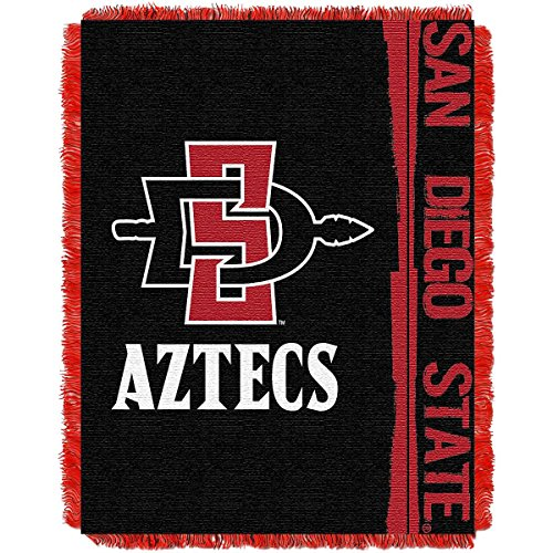 The Northwest Company NCAA Utah Licensed Jacquard Triple Woven Throw, One Size, Multicolor