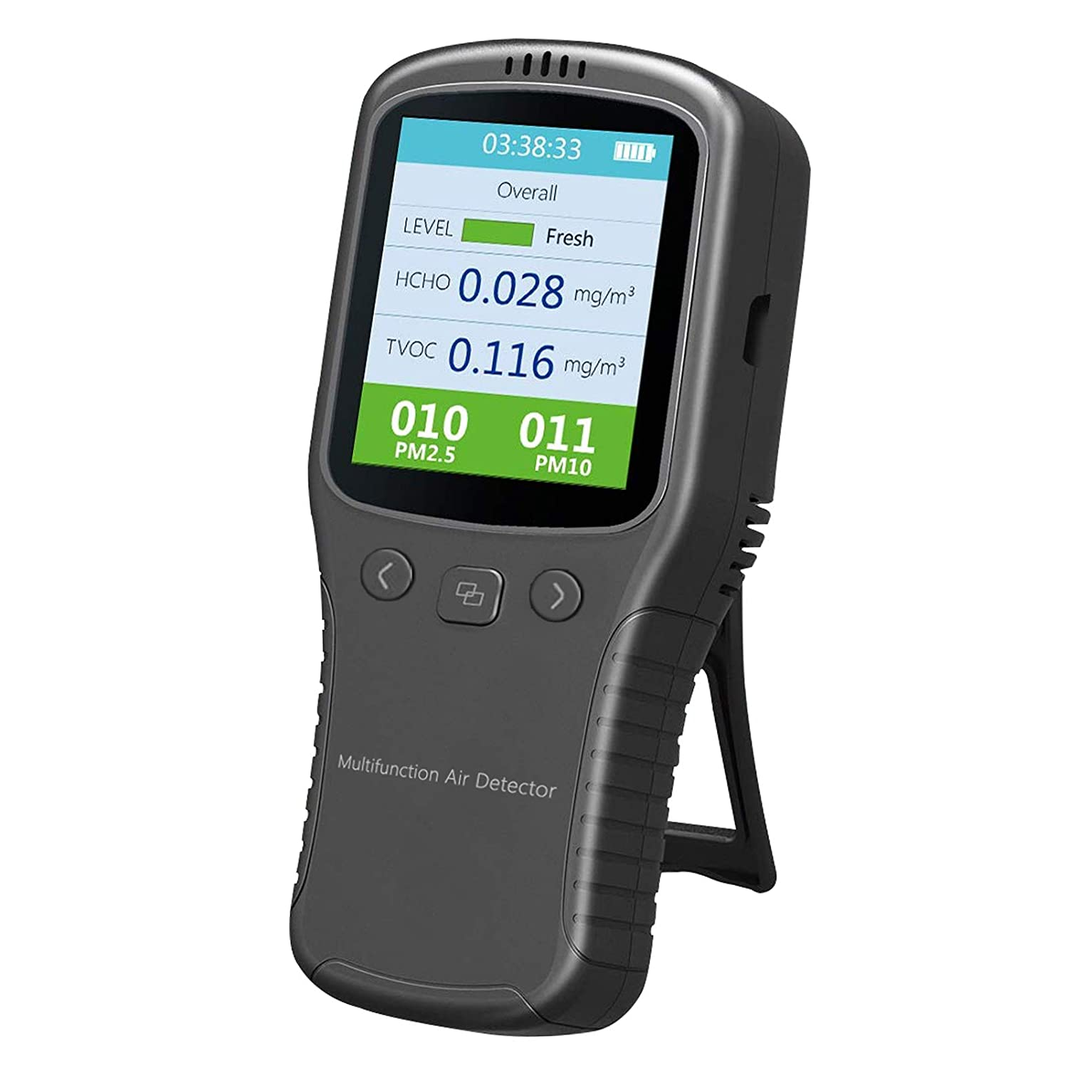 Air Quality Monitor, Formaldehyde Detector, Pollution Meter, Sensor, Tester; Detect & Test Indoor Pollution, Volatile Organic Compound Gas1Air Quality Monitor